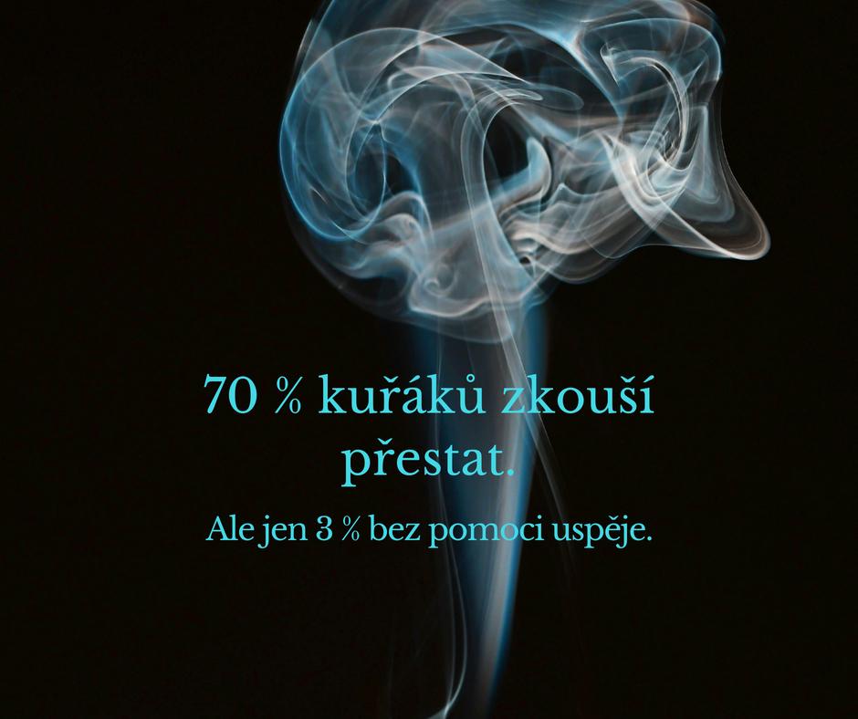 70 % kuřáků zkouší přestat, ale jen 3 % bez pomoci uspěje!