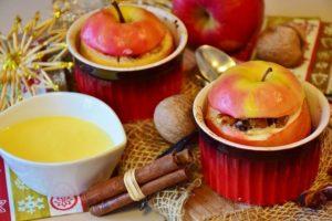 pečené jablko jako alternativa ke sladkému cukroví