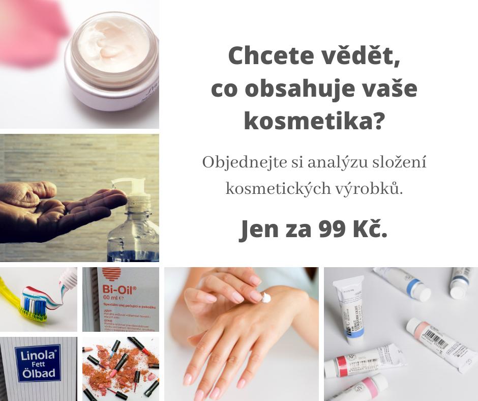 Objednejte si kosmetickou analýzu svého produktu.
